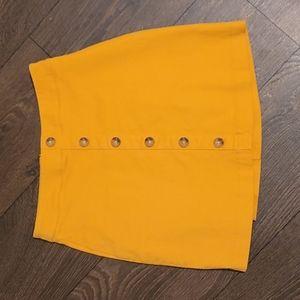 🌟Yellow mini skirt size XS